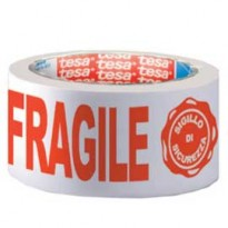 NASTRO ADESIVO PPL 66MTX50MM FRAGILE CON SIGILLO SICUREZZA 7024 TESA 07024-00018-03