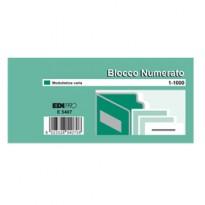 SET 10 BL. DA 100 NUMERI (BLOCCO NUMERATO 1-1000) 6X13 E5407 E5407 - Conf da 5 pz.