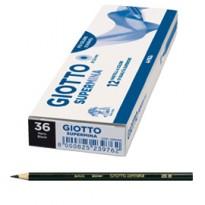 Pastello Giotto Supermina monocolore nero 36 23903600 - Conf da 12 pz.