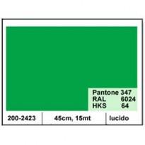 PLASTICA ADESIVA DC-FIX 45CM X 15MT VERDE 120 LUCIDO 2002423
