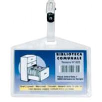 100 portanome Pass 3P 9,5x6cm c/clip in metallo s/cartoncino Sei Rota 318009