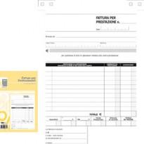 BLOCCO FATTURE PROFESSIONISTI 50/50 FOGLI AUTOR. 23X15 E5266A E5266A
