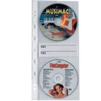 10 BUSTE FORATE ATLA CD2 12,5X30CM PER 2CD/DVD 662508