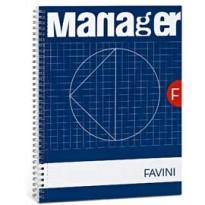 BLOCCO SPIRAL MANAGER 23X29,7CM 10MM 90FG 80GR 4fori microperforato FAVINI A293814 - Conf da 5 pz.