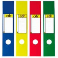 Busta 10 copridorso CDR PVC adesivi giallo 7x34,5cm SEI ROTA 58012536