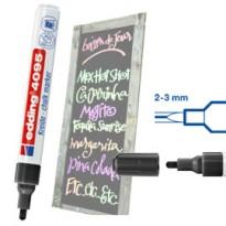 Marcatore EDDING 4095 punta conica gesso liquido nero E-4095 001