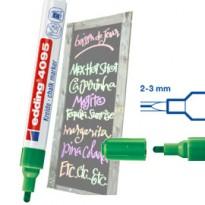 Marcatore EDDING 4095 punta conica gesso liquido verde E-4095 004