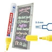 Marcatore EDDING 4095 punta conica gesso liquido giallo fluo E-4095 065