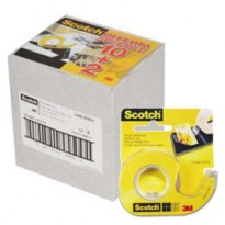 PROMO PACK 10+2 NASTRO BIADESIVO Scotch 665 6,3MTX12MM IN CHIOCCIOLA 17029