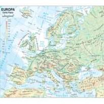 CARTA GEOGRAFICA SCOLASTICA PLASTIFICATA EUROPA 297X420MM BELLETTI BS03P - Conf da 20 pz.