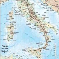 CARTA GEOGRAFICA SCOLASTICA PLASTIFICATA ITALIA 297X420MM BELLETTI BS01P - Conf da 20 pz.