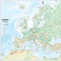 CARTA GEOGRAFICA SCOLASTICA MURALE EUROPA BELLETTI MS03PL