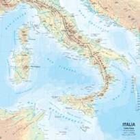 CARTA GEOGRAFICA SCOLASTICA MURALE ITALIA BELLETTI MS01PL