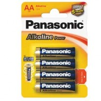BLISTER 4 PILE STILO ALKALINE AA 1,5V PANASONIC C500006