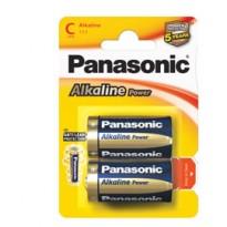 BLISTER 2 PILE MEZZATORCIA ALKALINE C 1,5V PANASONIC C500014