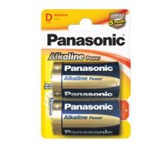 BLISTER 2 PILE TORCIA ALKALINE D 1,5V PANASONIC C500020