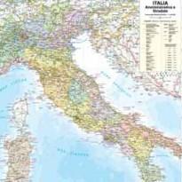 CARTA GEOGRAFICA MURALE ITALIA 67X85CM BELLETTI M06PP/07