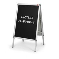 COPPIA DI INSERTI NERO SCRIVIBILE F.TO A1 PER CAVALLETTO A-FRAME A1 NOBO 1902436