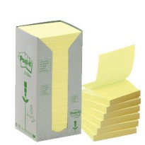 BLOCCO 100foglietti Post-it Z-Notes Green 76x76mm R330-1T GIALLO RICICL.100 7100172251 - Conf da 16 pz.
