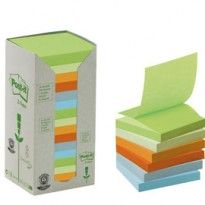 BLOCCO 100foglietti Post-it Z-Notes Green 76x76mm R330-1RPT NATURAL 100 7100172327 - Conf da 16 pz.