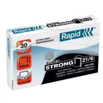 Scatola 1000 punti SUPER STRONG RAPID 21/6 (6/6) 24867700 - Conf da 5 pz.
