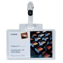 100 portanome Pass 3M 9,5x6cm c/clip in metallo s/cartoncino Sei Rota 318007