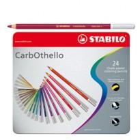 Astuccio metallo 24 CarbOthello colori assortiti Stabilo 1424-6