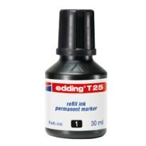 RICARICA INCHIOSTRO PERMANENTE 30ML T25 NERO EDDING E-T25 001