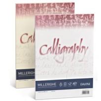 Carta CALLIGRAPHY MILLERIGHE 100gr A4 50fg bianco 01 FAVINI A690224