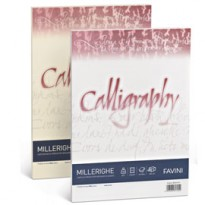 Carta CALLIGRAPHY MILLERIGHE 200gr A4 50fg bianco 01 FAVINI A690324