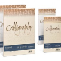 Carta CALLIGRAPHY CANVAS 200gr A4 50fg bianco 01 FAVINI A690314