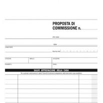 BLOCCO COPIA COMMISSIONI 23X15cm 33fg 3 copie autoric. E5230CT EDIPRO E5230CT