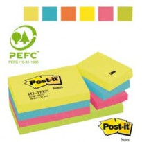 BLOCCO 100foglietti Post-it 38x51mm 653-TFEN ENERGY 72GR ASSORTITO 7100172312 - Conf da 12 pz.