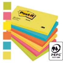 BLOCCO 100foglietti Post-it 76x127mm 655-TFEN ENERGY 72GR ASSORTITO 7100172314 - Conf da 6 pz.