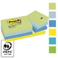 BLOCCO 100foglietti Post-it 38x51mm 653-MTDR DREAM 72GR ASSORTITO 7100172315 - Conf da 12 pz.