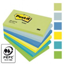 BLOCCO 100foglietti Post-it 76x127mm 655-MTDR DREAM 72GR ASSORTITO 7100172317 - Conf da 6 pz.