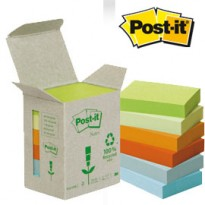 BLOCCO 100foglietti Post-it Notes Green 38x51mm 653-1GB NATURAL 7100172256 - Conf da 6 pz.