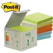 BLOCCO 100foglietti Post-it Notes Green 76x76mm 654-1GB NATURAL 7100172255 - Conf da 6 pz.