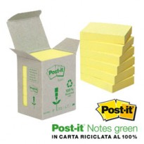 BLOCCO 100foglietti Post-it Notes Green 38x51mm 653-1B GIALLO 7100172254 - Conf da 6 pz.