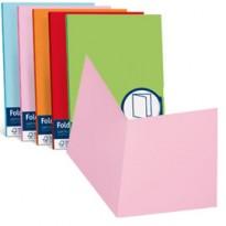 50 cartelline semplici LUCE 200gr 25x34cm mix 5 colori FAVINI A50X664