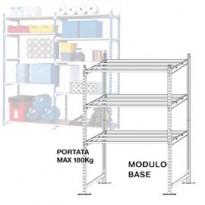 Scaffale RANGECO 5 ripiani 100x35xH200cm - Modulo Base K605130