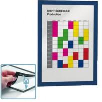 Cornice espositiva adesiva Duraframe A4 21x29,7cm blu DURABLE 4872-07 - Conf da 2 pz.