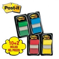 PROMO PACK 10+2 Post-it INDEX 680 COLORI ASS. 23807