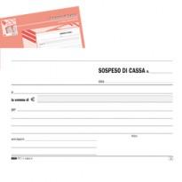 BLOCCO SOSPESO DI CASSA 50fgx2 copie autoricalcante 10x17cm E5403A EDIPRO E5403A