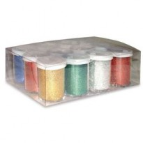 12 FLACONI GLITTER DA 25ML 5 COLORI ASSORTITI 05330 CWR 05330