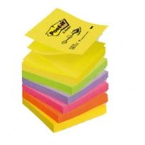 BLOCCO Post-it Super Sticky Z-Notes 76x76mm 100fg R330-NR NEON 7100172322 - Conf da 6 pz.
