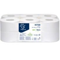 Carta igienica MiniJumbo 2veli microgoffrata 150mt BioTech Papernet 407568 - Conf da 12 pz.