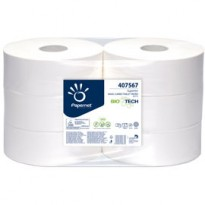 Carta igienica MaxiJumbo 2veli microgoffrata 300mt BioTech Papernet 407567 - Conf da 6 pz.