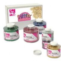 SET 6 BARATTOLI GLITTER GRANA FINE ML150 colori assortiti ART 05404 CWR 05404