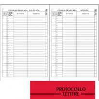REGISTRO PROTOCOLLO LETTERE RICEVUTE-SPEDITE 21x31cm 100fg BM 0100114